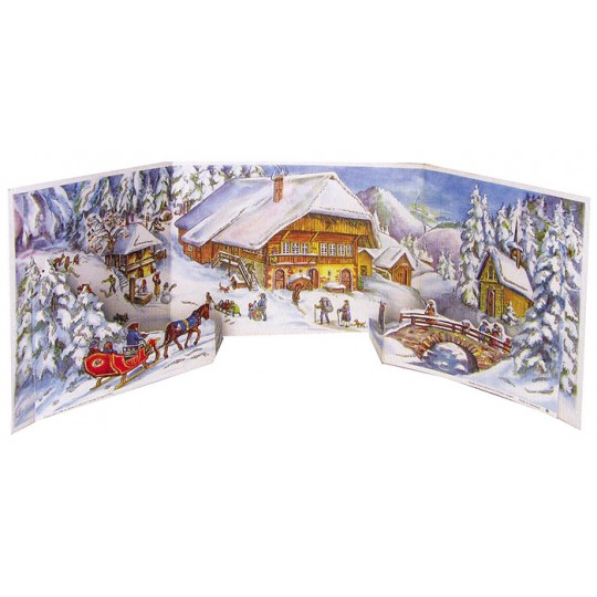 Village Gathering Standing Advent Calendar from Germany