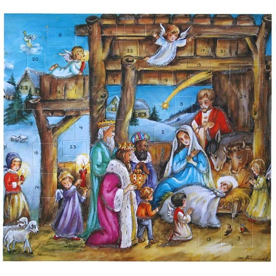 Three Magi and Angels Advent Calendar