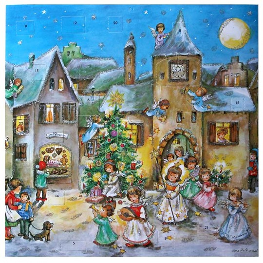 Large Musical Angels Parade Advent Calendar ~ Germany ~ Hummel