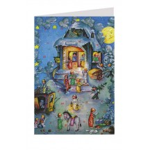 Angels Heavenly Post Office Advent Calendar Card ~ Germany