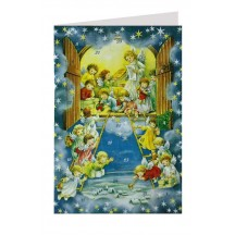 Angels Heavenly Christmas Prep Advent Calendar Card ~ Germany