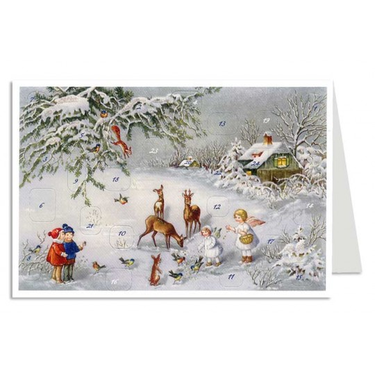 Feeding The Deer Advent Calendar Card ~ Germany ~ New for 2012