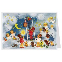 Angels Stairway to Heaven Advent Calendar Card ~ Germany