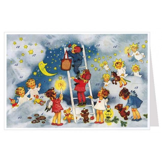 Angels Stairway to Heaven Advent Calendar Card ~ Germany