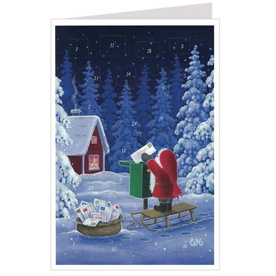 Tomte Christmas Mail Advent Calendar Card ~ Germany
