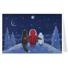 Tomte Christmas Friends Advent Calendar Card ~ Germany
