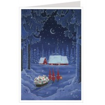 Tomte Christmas Delivery Advent Calendar Card ~ Germany