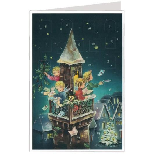 Angel's Christmas Mail Advent Calendar Card ~ Germany