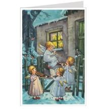 Angel's Christmas Carols Advent Calendar Card ~ Germany