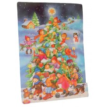 "Large Children's Christmas Tree Advent Calendar from Spain ~ 16"" tall"