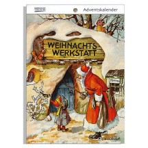 "Christmas Workshop Advent Calendar Booklet ~ Germany ~ 7-1/2"" x 5-1/4"""