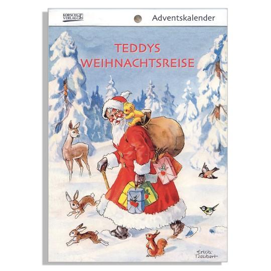 "Teddy's Christmas Travels Advent Calendar Booklet ~ Germany ~ 7-1/2"" x 5-1/4"""