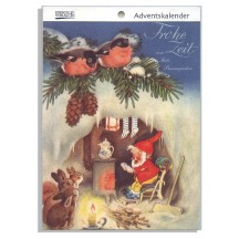 "Merry Time Advent Calendar Booklet ~ Germany ~ 7-1/2"" x 5-1/4"""