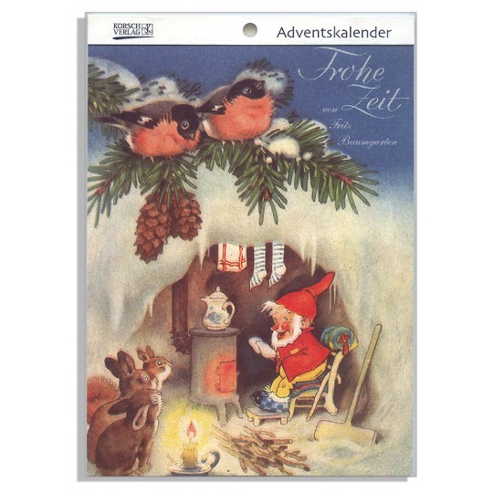 """Merry Time Advent Calendar Booklet ~ Germany ~ 7-1/2"""" x 5-1/4"""""""