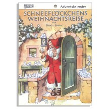 "Snowflakes' Christmas Travels Advent Calendar Booklet ~ Germany ~ 7-1/2"" x 5-1/4"""