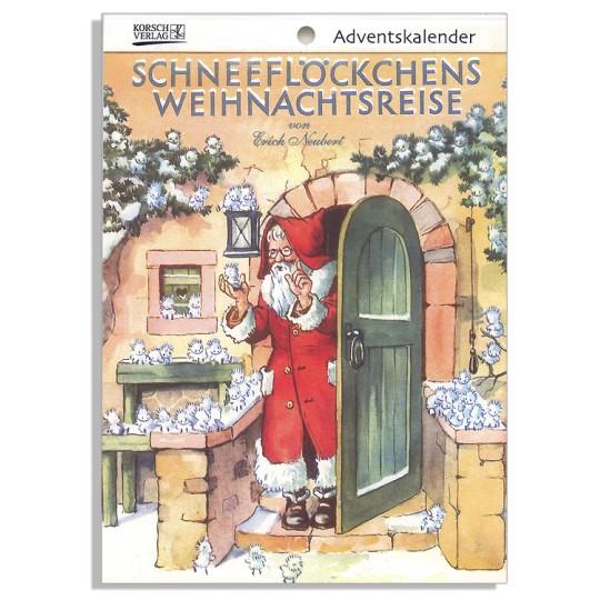 "Snowflakes' Christmas Travels Advent Calendar Booklet ~ Germany ~ 7-1/2"" x 5-1/4"""