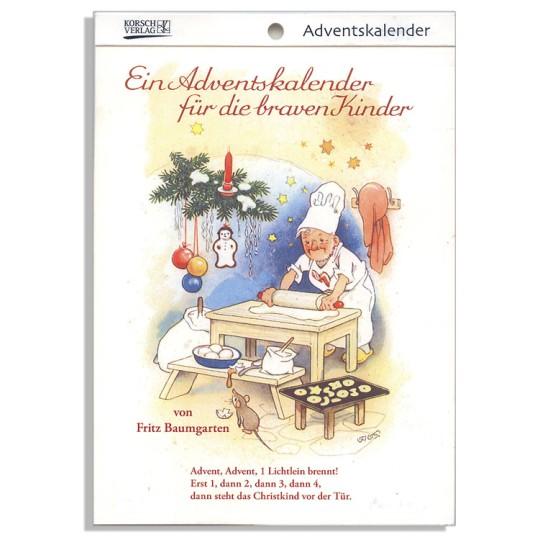 "For Good Children Advent Calendar Booklet ~ Germany ~ 7-1/2"" x 5-1/4"""