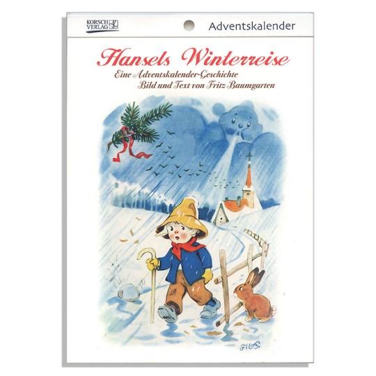 "Hansel's Christmas Adventure Advent Calendar Booklet ~ Germany ~ 7-1/2"" x 5-1/4"""