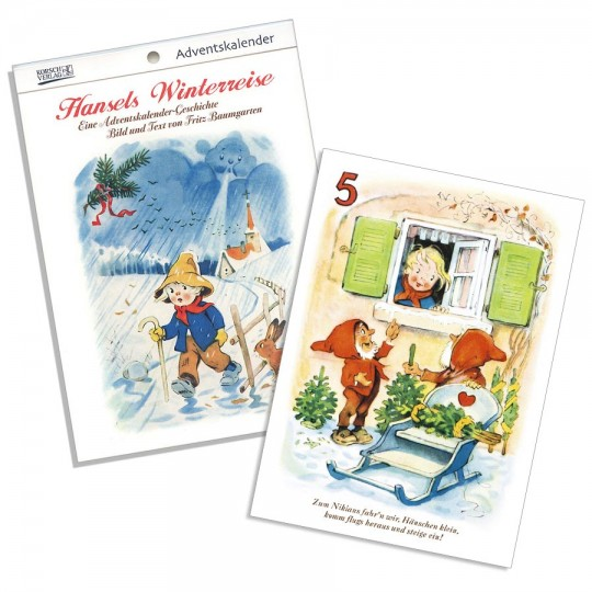 "Hansel's Christmas Adventure Advent Calendar Booklet ~ Germany ~ 7-1/2"" x 5-1/4"""