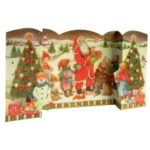 "Large Standing Santa with Children Advent Calendar from Spain ~ 21"" wide"