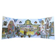 The Village VW Bus Folding 3D Advent Calendar