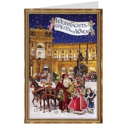 Vienna Hofburg Christmas Advent Calendar Card ~ Germany