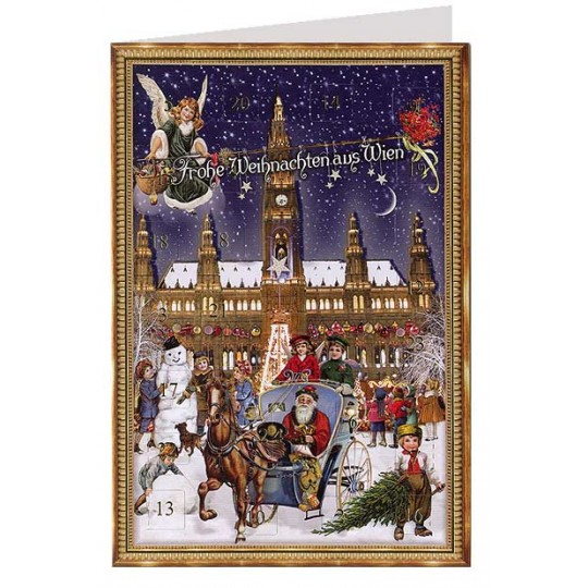 Vienna Rathaus Christmas Advent Calendar Card ~ Germany