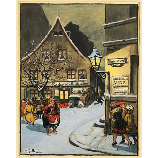 "Restaurant in Nussbaum Advent Calendar ~ Germany ~ 13"" x 10-1/4"""