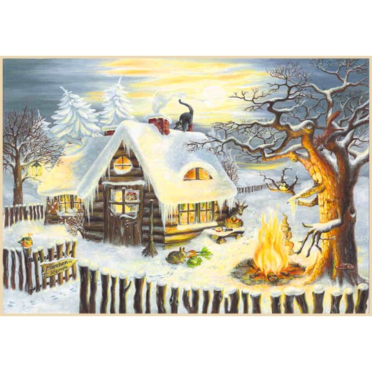 "Grimm's Fairytales Advent Calendar ~ Germany ~ 14-3/4"" x 10-1/4"""