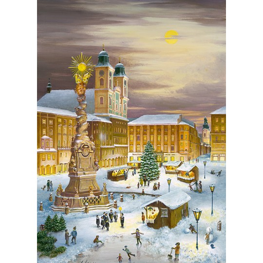 "Christmas in Linz Advent Calendar ~ Germany ~ 14-3/4"" x 10-1/4"""