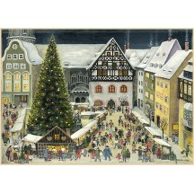"Jena Christmas Market Advent Calendar ~ Germany ~ 14-3/4"" x 10-1/4"""