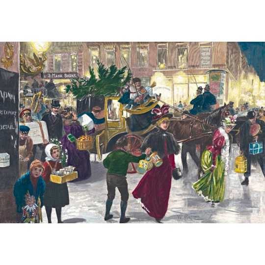 "Christmas Shopping Advent Calendar ~ Germany ~ 14-3/4"" x 10-1/4"""