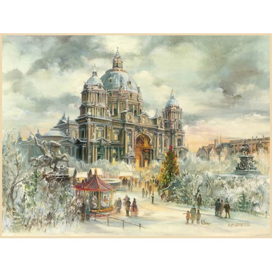 "Berliner Dom at the Lustgarten Advent Calendar ~ Germany ~ 12-1/2"" x 10-1/4"""
