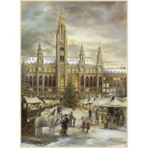 "Christmas in Vienna Advent Calendar ~ Germany ~ 14-3/4"" x 10-1/4"""