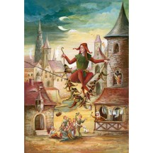 "Till Eulenspiegel Advent Calendar ~ Germany ~ 14-3/4"" x 10-1/4"""