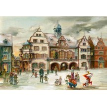 "Christmas at the Freiburg Rathaus Advent Calendar ~ Germany ~ 14-3/4"" x 10-1/4"""