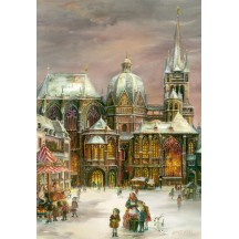 "Christmas in Aachen Advent Calendar ~ Germany ~ 14-3/4"" x 10-1/4"""