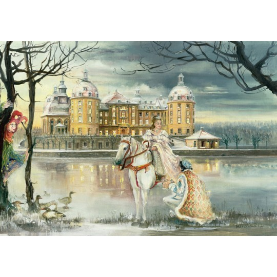 "Cinderella with Prince Charming Advent Calendar ~ Germany ~ 14-3/4"" x 10-1/4"""