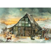 "Holy Night Christmas Advent Calendar ~ Germany ~ 14-3/4"" x 10-1/4"""