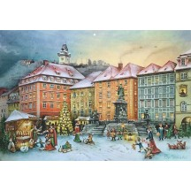 "Christmas Market in Graz Advent Calendar ~ Germany ~ 14-3/4"" x 10-1/4"""