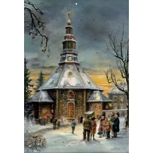 "Seiffen Christmas Church Advent Calendar ~ Germany ~ 14-3/4"" x 10-1/4"""