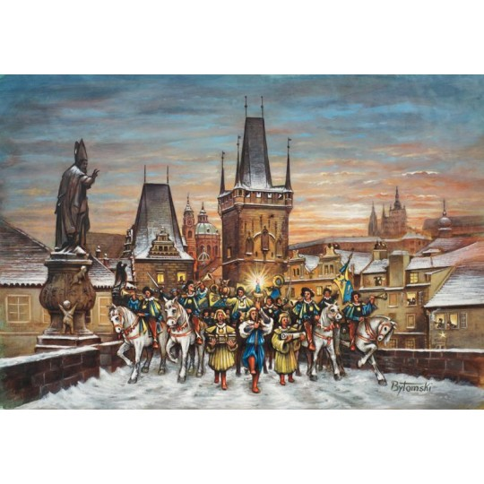 "Prague Charles Bridge Christmas Advent Calendar ~ Germany ~ 14-3/4"" x 10-1/4"""