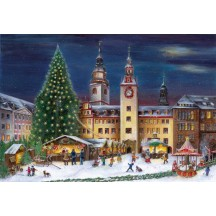 "Chemnitz Christmas Market Advent Calendar ~ Germany ~ 14-3/4"" x 10-1/4"""