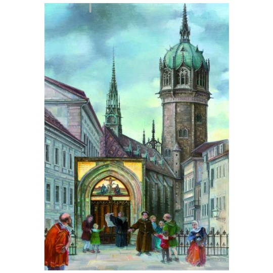 "500 Jahre Reformation Wittenburg Advent Calendar ~ Germany ~ 14-3/4"" x 10-1/4"""
