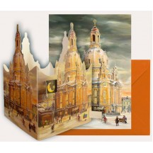 "Miniature Dresden Frauenkirche Lantern Advent Calendar ~ Germany ~ 4-5/8"" tall x 3-1/4"""
