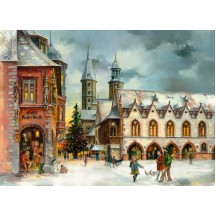 "Christmas in Goslar Advent Calendar ~ Germany ~ 14-3/4"" x 10-1/4"""