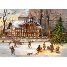 "Schwanenschlösschen Christmas Advent Calendar ~ Germany ~ 14-3/4"" x 10-1/4"""