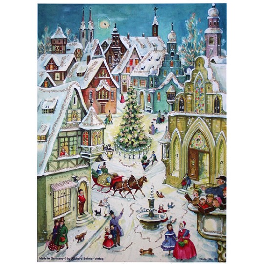 Snowy Christmas Village Advent Calendar ~ Germany