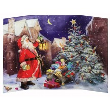 "Santa with Tree Advent Calendar ~ England ~ 9-3/4"" tall"