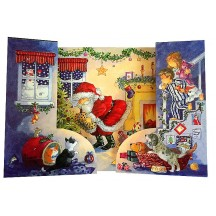 Standing Christmas Fireplace Advent Calendar ~ England